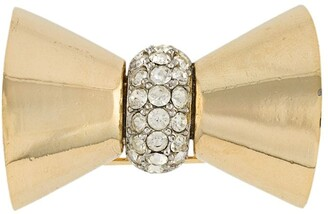 Christian Dior Pre-Owned 1980s embellished bow brooch