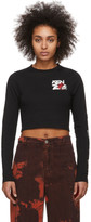 Kenzo Black Cropped Long Sleeve T-Shirt
