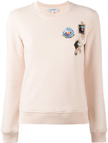 Carven multi patched sweatshirt - women - Cotton - S