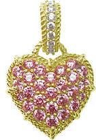 Judith Ripka 14K Clad Diamonique & Choice of Heart Enhancer