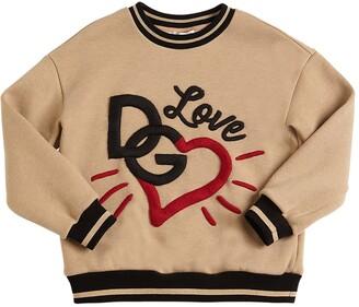 Dolce & Gabbana Embroidered Cotton Blend Sweatshirt