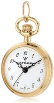 Catorex Women's 675.6.12300.121 Les petites 18k Gold Plated Brass Etched Pendant Watch