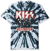 Liquid Blue Unisex-Adults Kiss Destroyer 1976 Tie Dye Short Sleeve T-Shirt