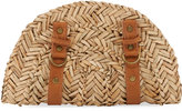 San Diego Hat Company Seagrass Zip-Around Clutch Bag, Neutral Pattern