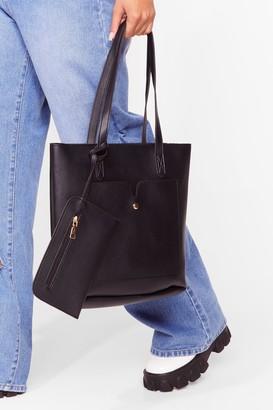 Nasty Gal Womens PU 2 in 1 Day Bag - Black
