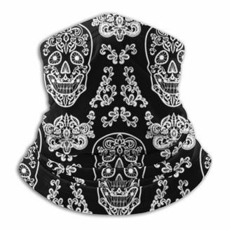Nch Uwdf Day Dead Mexican Dia Los Muertos Holidays Balaclava Breathable Face Scarf Microfiber Neck Warmer for Unisex