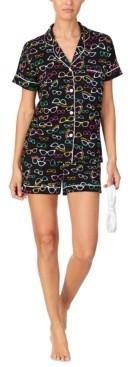 Cuddl Duds Short-Sleeve Shirt & Boxer Shorts Pajama Set