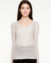 Le Château Open-Stitch V-Neck Sweater