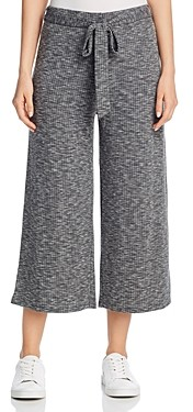 Bobeau B Collection by Doris Ribbed Knit Crop Pants