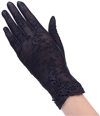 Bodhi2000 Women's Summer UV Protection Lace Gloves Wrist Length Driving Gloves