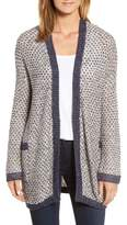 Women's Caslon Textured Boyfriend Cardigan