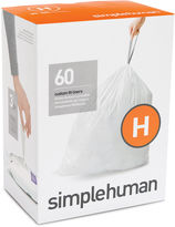 Simplehuman Custom-Fit Trash Can Liners Code H - 60-pack