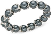 Charter Club Imitation Pearl and Crystal Stretch Bracelet, Only at Macy's
