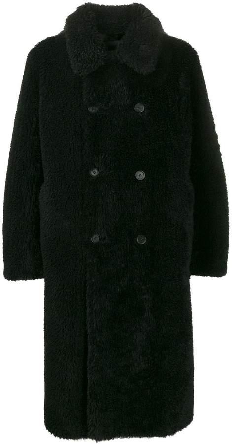 94db4dba7 furry double-breasted coat