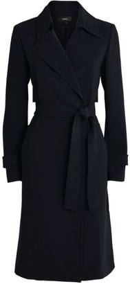 Theory Oaklane Crepe Trench Coat