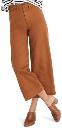 Madewell Emmett High Waist Crop Wide Leg Pants (Regular & Plus Size)