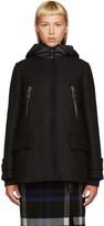 Moncler Black Wool Layered Coat