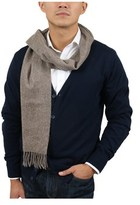 S.t. Dupont 100ws-c Tp Taupe Fine Purecashmere Classic Mens' Scarf.
