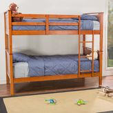 Baxton Studio Wexford Twin Bunk Bed in Brown
