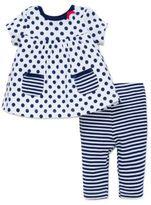 Offspring Baby's Polka Dot Dress and Leggings Set