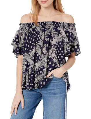 Angie Women's Printed Off Shoulder Top