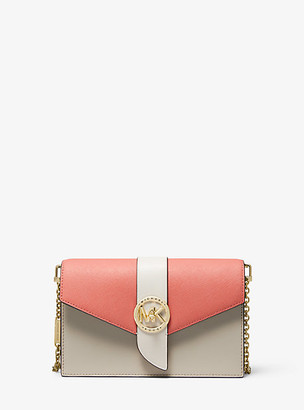 Michael Kors Medium Color-Block Leather Crossbody Bag