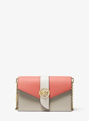 Michael Kors Medium Color-Block Leather Crossbody Bag