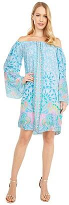 Lilly Pulitzer Nevie Dress (Multi Caribbean Citrus Engineered) Women's Dress