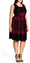 City Chic Plus Size Women's Royale Lace Fit & Flare Dress