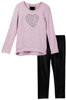 Juicy Couture Hi-Lo Heart Top & Quilted Pleather Pant Set (Little Girls)