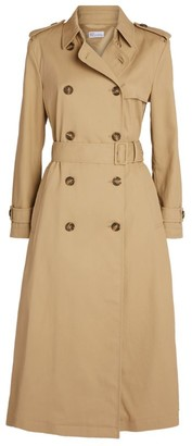RED Valentino Pleated-Back Trench Coat