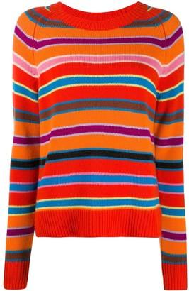 Chinti and Parker Multi-Stripe cashmere jumper