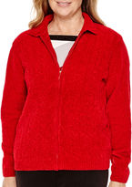 Alfred Dunner Madrid Long-Sleeve Chenille Cardigan
