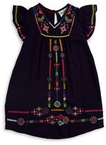 Rare Editions Little Girl's Embroidered Dress