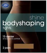 Boots Bodyshaping Shine Natural Tan Tights 2 Pair Pack