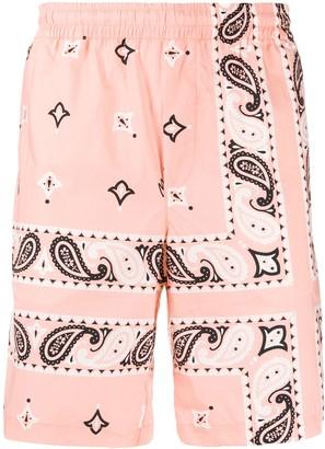 MSGM Bandana-Print Shorts