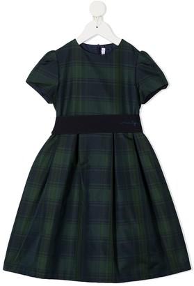 Il Gufo Tartan Short-Sleeve Dress