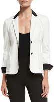 ATM Anthony Thomas Melillo Stretch Twill Schoolboy Blazer, Ivory
