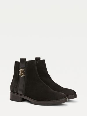 Tommy Hilfiger Suede Flat Boots