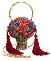 Judith Leiber Posies Crystal Flower Basket Minaudiere