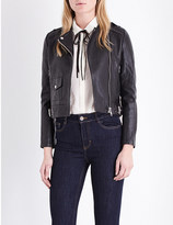 Maje Bass leather jacket