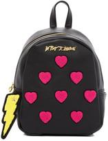 Betsey Johnson Collegiate Heart Medium Backpack