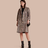 Burberry Leopard Print Shearling Coat