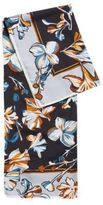 HUGO BOSS Lorie Floral Silk Scarf One Size Patterned