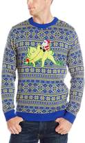 Alex Stevens Men's Stegosaurus Santa Ride Sweater