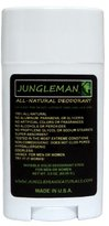 Jungleman All-Natural Deodorant, Unscented - 3.0 Ounce Stick