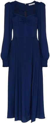 Reformation Wallflower ruched midi dress