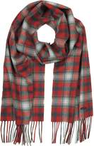 DSQUARED2 Red Checked Wool Blend Men's Scarf w/Fringes