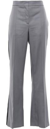 Nina Ricci Striped Wool-twill Flared Pants