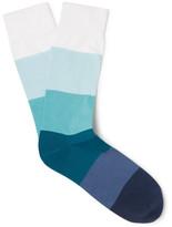 Corgi Dégradé Striped Cotton-Blend Socks